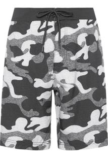 Bermuda Masculina Board Short Camuflada - Cinza