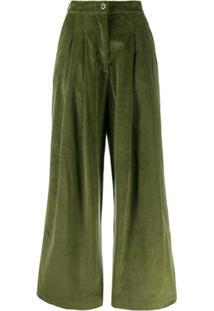 Katharine Hamnett London Calça Ella De Veludo Cotelê - Verde