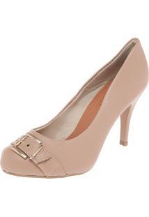 Scarpin Dafiti Shoes Fivela Bege