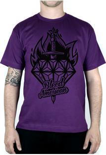 Camiseta Bleed American Diamond Roxo