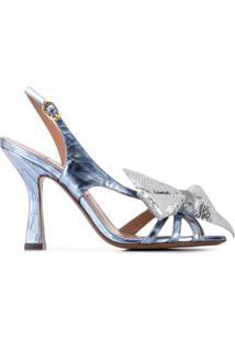 L'Autre Chose Sandália Com Detalhe De Laço - Azul