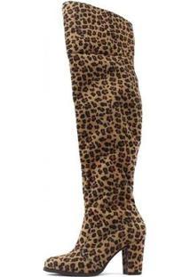 Bota Over The Knee Tina Damannu Shoes Feminina - Feminino-Amarelo