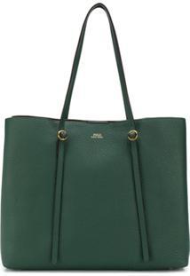 Polo Ralph Lauren Bolsa Tote Com Logo - Verde
