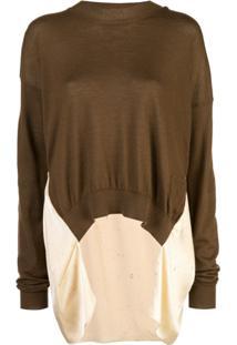 Uma Wang Blusa De Tricô Reconstruída - Marrom