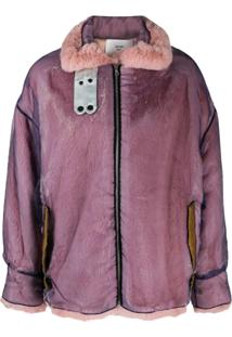 Quetsche Zipped Oversized Jacket - Roxo