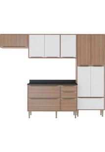 Cozinha Compacta Simge 11 Pt 3 Gv Nogueira E Branco