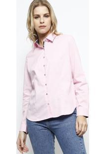 Camisa Com Tag Posterior - Rosa & Preta - Vip Reservvip Reserva