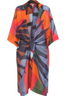 Kimono Feminino Fluid Tropicolor - Laranja
