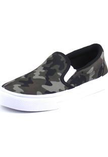 Tenis Tag Shoes Slip On Preto Militar