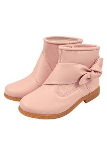 Bota Lulopé Menina Anklet Boot Laço Nude