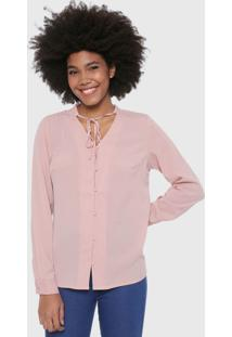 Camisa Malwee Botões Rosa