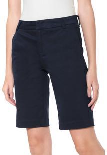 Bermuda Sarja Calvin Klein Jeans Chino Alfaiataria Azul-Marinho