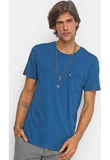 Camiseta Redley Bolso Frontal Masculina - Masculino