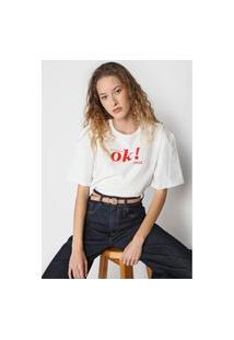 Camiseta Coca-Cola Jeans Ok Branca
