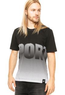 Camiseta Manga Curta Ellus Poás Preta/Branca