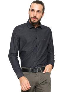 Camisa Aramis Manga Longa Slim Menswear Preta