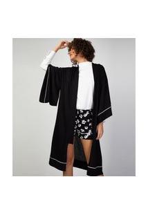 Cardigan Liz Easywear Kimono Preto