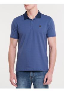 Polo Ckj Mc Termocolante Calvin Jeans - Azul Escuro - Pp