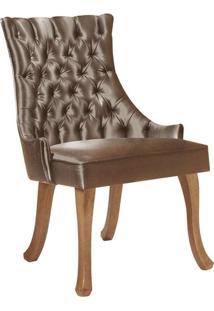 Cadeira De Jantar Leonardo Da Vinci Ii Capitonê Cetim Dourado