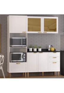 Cozinha Completa 4 Peças Americana Multimóveis 5908 Branco