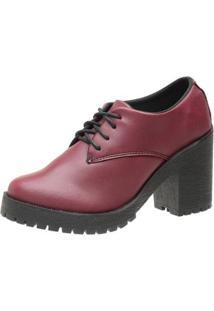 Oxford 3Ls3 Casual Feminino - Feminino-Vermelho