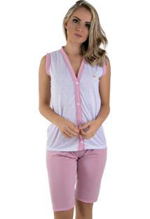 Pijama Linha Noite Pescador Rosa - Kanui