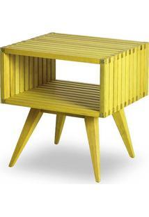 Mesa Apoio Dominoes Estrutura Amarelo 22Cm - 61480 - Sun House