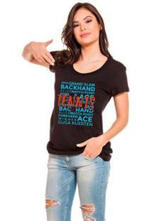 Camiseta Baby Look Fanzoca - Feminino-Preto