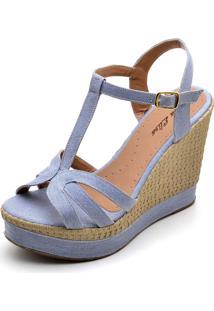 Sandália Dr Shoes Anabela Jeans - Kanui