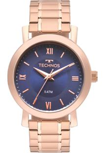 Eclock. Relógio Feminino Aço Dobrável Analógico Technos ... cbebe114bf