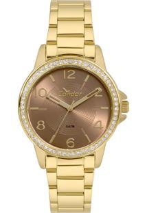 Relógio Condor Feminino Analógico Dourado Co2035Kwnk4M - Kanui