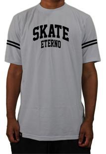 Camiseta Manga Curta Skate Eterno Bask Cs Cinza