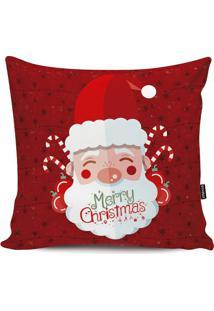 Capa De Almofada Papai Noel- Vermelha & Branca- 42X4Stm Home
