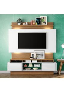 Painel Para Tv Tb112L Com Led Off White/Freijo - Dalla Costa