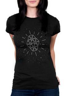 Camiseta Baby Look Hshop Galaxia Preto