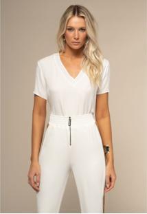 T-Shirt Acostamento Basic Off-White