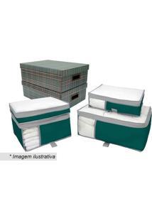 Kit De Caixa Para Enxoval- Verde & Cinza- 6Pçsboxmania