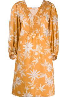 Dorothee Schumacher Vestido Gola V Com Estampa Floral - Amarelo