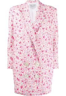 Carmen March Blazer Com Estampa Floral - Rosa
