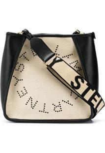 Stella Mccartney Bolsa Tiracolo Stella Com Logo - Preto