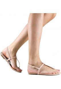 Sandália Zariff Shoes Rasteira Casual Nude