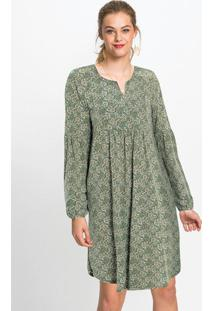 Vestido Túnica Com Decote V Pasley Verde