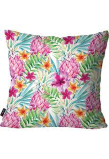 Capa De Almofada Decorativa Avulsa Colors Flores 45X45Cm Pump Up