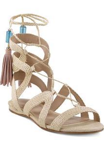 Sandália Gladiadora- Off White & Azularezzo & Co.