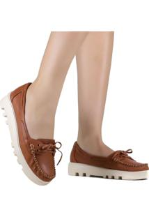 Sapato Zariff Shoes Mocassim Laço Marrom