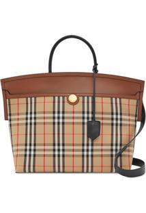 Burberry Society Vintage Check Tote Bag - Neutro