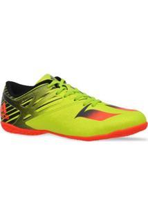 Tenis Adidas Futsal Messi 15.4 Verde Laranja