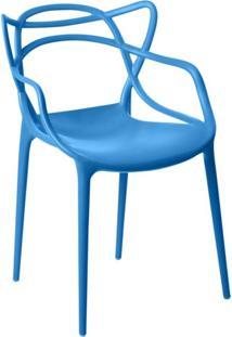 Cadeira Facthus Allegra Sala De Jantar Azul - D'Rossi