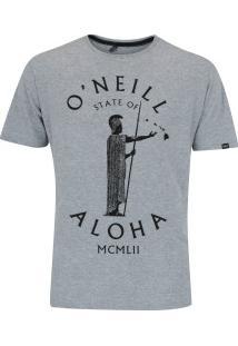 Camiseta O'Neill Estampada Big Island - Masculina - Cinza