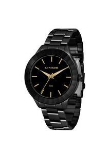 Kit Relógio Feminino Lince Lrn4592L-K773P1Px Analógico 5Atm + Pulseira   Lince   Preto   U